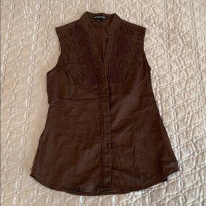 Brown sleeveless top